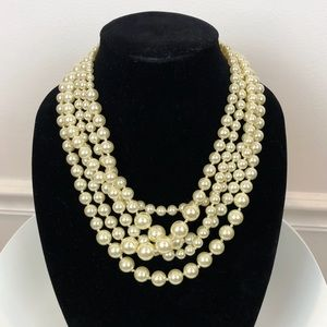 J. Crew classic 5 strand pearl necklace